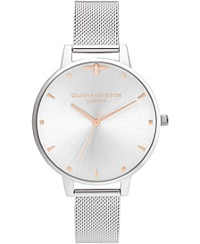 Women's Queen Bee Stainless Steel Mesh Bracelet Watch 38mm