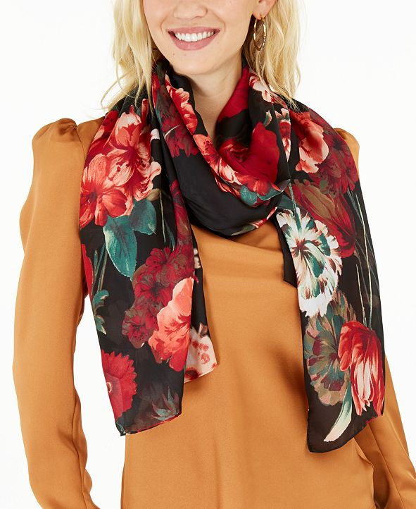 INC International Concepts INC Floral Bouquet Scarf, Created for Macy's