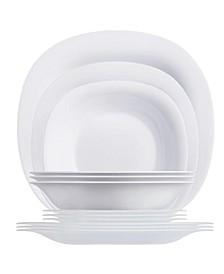 Carine Dinnerware Set White 12pc Set