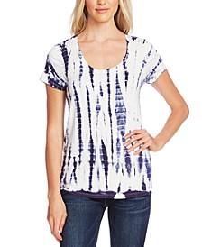 Tie-Dye Printed Scoop-Neck T-Shirt