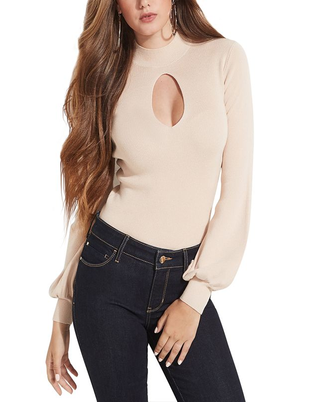GUESS Freja Keyhole-Cutout Sweater