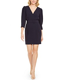 Belted Surplice Dress
