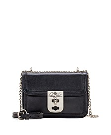 Heritage Roanne Small Flap Chain Leather Crossbody