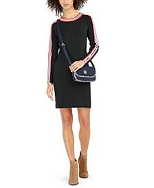 Racer-Stripe Sweater Dress