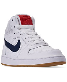 Big Boys Court Borough Mid Stay-Put Closure Casual Sneakers from Finish Line