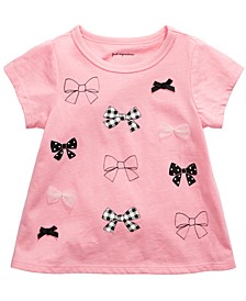 Baby Girls Cotton Bow T-Shirt, Created For Macy's