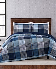 Trey Plaid Twin XL Quilt Set
