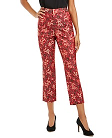 INC Cropped Jacquard Skinny Pants, Created For Macy's