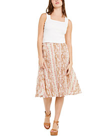 Lucy Paris Cropped Tank Top & Pleated Skirt