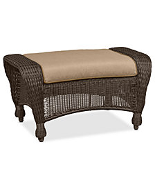 Monterey Wicker Outdoor Ottoman: with Custom Sunbrella®,  Created for Macy's