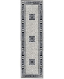"Sanford Milan 2831OF28MA Gray 2'3"" x 7'7"" Runner Rug"