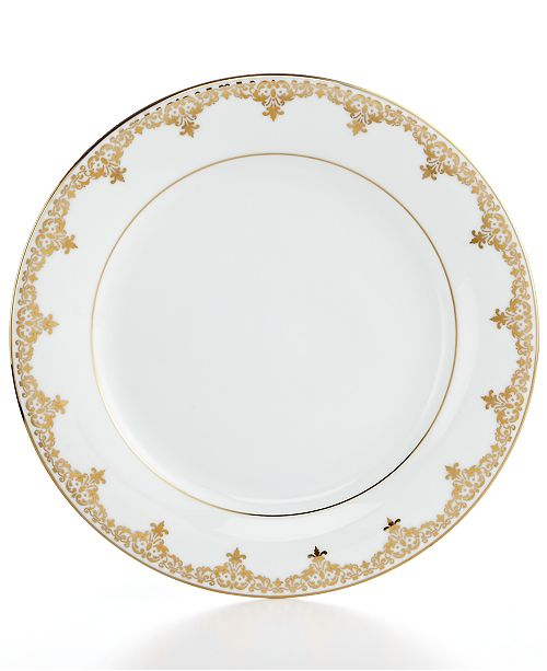 Charter Club Dinnerware, Grand Buffet Gold Accent Plate, Created for ...