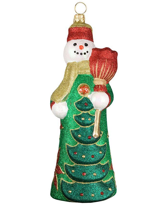 Joy to the World - Glitterazzi Poinsettia Snowman