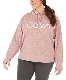 Plus Size Animal-Print Hooded Sweatshirt