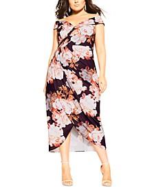Trendy Plus Size Moody Rosa Dress