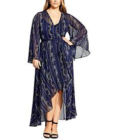 Trendy Plus Size Paisley Play Dress