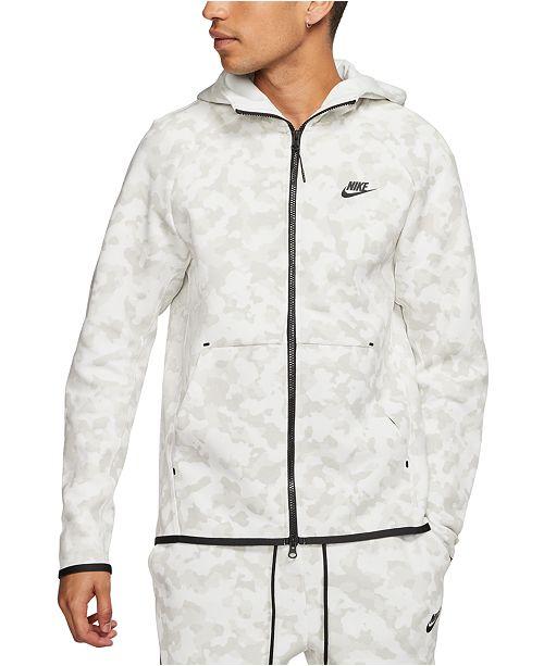 Nike Men's Sportswear Tech Fleece Printed Zip Hoodie