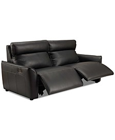 "Sophine 80"" Leather Dual Power Sofa, Created for Macy's"