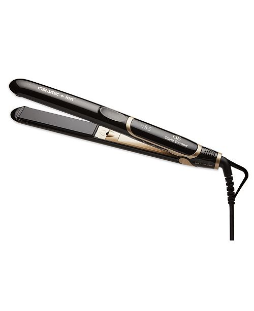 Olivia Garden Ceramic Ion Flat Iron with Heat Resistant Mat and Pouch