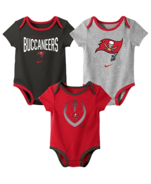 Nike Baby Tampa Bay Buccaneers Icon 3 Pack Bodysuit Set