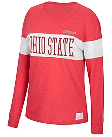 Women's Ohio State Buckeyes Colorblocked Long Sleeve T-Shirt