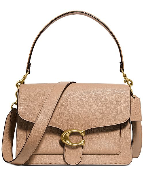 COACH Mixed Leather Tabby Shoulder Bag