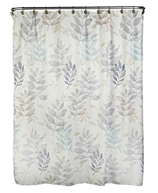 Pencil Leaves Shower Curtain
