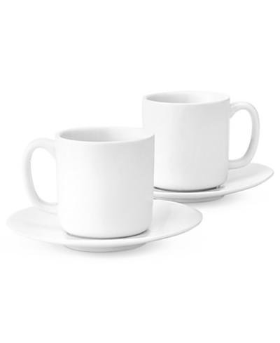 The Cellar Set of 2 Whiteware Espresso Cups