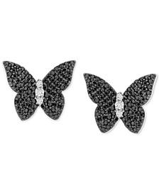 Diamond Butterfly Stud Earrings (1/2 ct. t.w.) in Sterling Silver