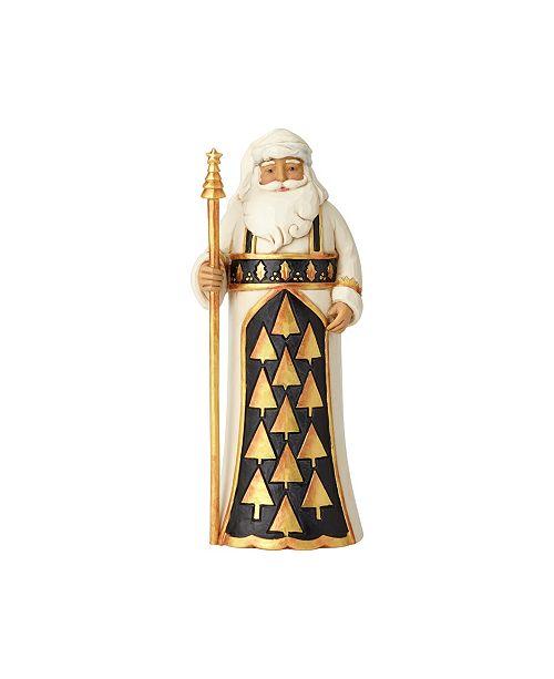 Enesco Black & Gold Santa with Staff