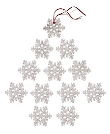 The Holiday Collection Set of 12 Shatterproof Clear Snowflake Ornaments , Created for Macy's