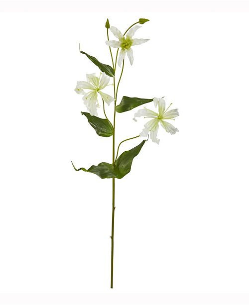 Nearly Natural 33in. Gloria Lily Artificial Flower Set of 4