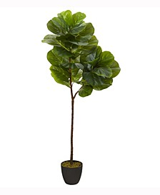 59in. Fiddle Leaf Artificial Tree Real Touch