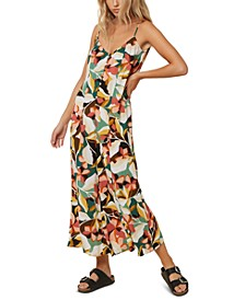 Juniors' Candice Floral-Print Jumpsuit