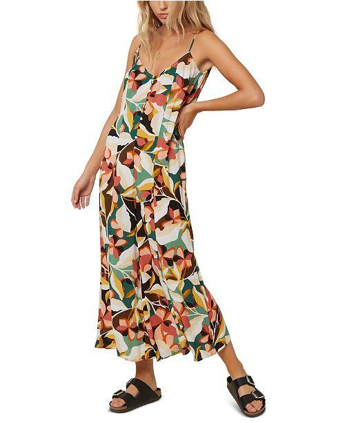 O'Neill Juniors' Candice Floral-Print Jumpsuit