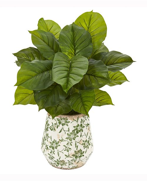 Nearly Natural 30in. Large Philodendron Artificial Plant in Large Floral Planter Real Touch