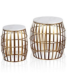Gold Cage 2pc Nesting Table