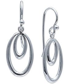 Double Oval Drop Earrings in Sterling Silver, Created For Macy's