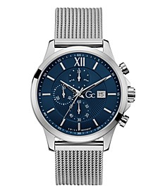 Gc Men's Executive Chrono Stainless Steel Mesh Bracelet Watch 44mm