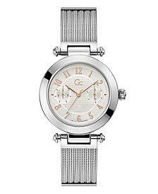 Gc Women's Prime Chic Stainless Steel Mesh Bracelet Watch 36mm
