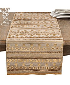 Beaded Aztec Cotton Table Runner