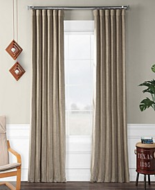 Faux Linen Blackout Curtain Panel Collection