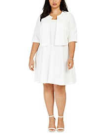 Plus Size Jacket & Fit & Flare Dress