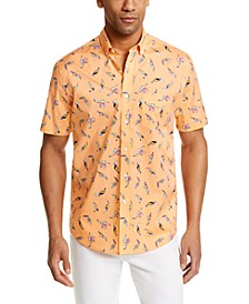 Men's Tropical Bird Print Shirt, Created for Macy's