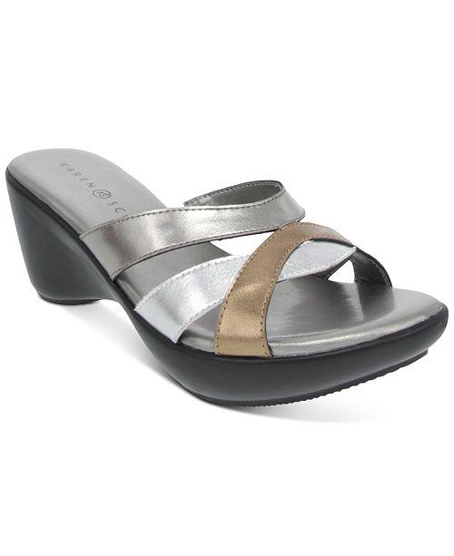 Karen Scott Primmrose Wedge Sandals, Created for Macy's