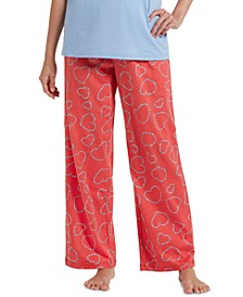 Women's Bitsy Flower Heart Pajama Pants