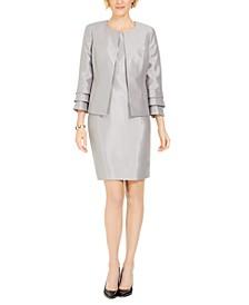 Ruffle-Sleeve Jacket & Sheath Dress
