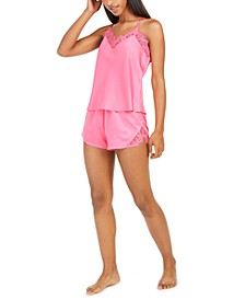 INC Lace-Trim Tank Top & Shorts Pajama Set, Created For Macy's
