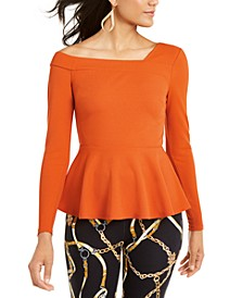 Asymmetrical Peplum-Hem Top, Created For Macy's