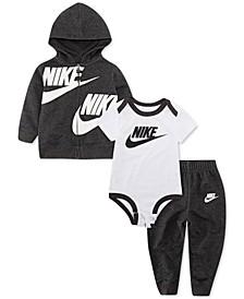 Baby Boys & Girls 3-Pc. Hoodie, Bodysuit & Pants Set